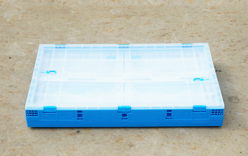 folding crate with lid